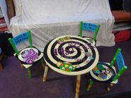 Childs Set of Tables and 3 chairs