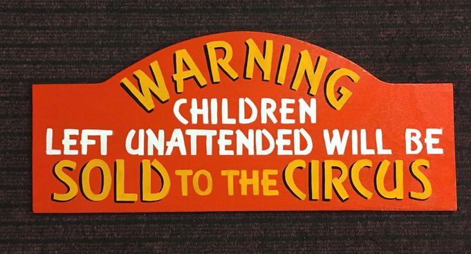 Circus Sign . Hand Painted 9mm ply £45