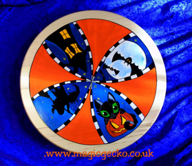 "Hand painted 15"" Lazy Susan Blue £60"