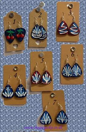 Plectrum Earrings (Assorted Designs)